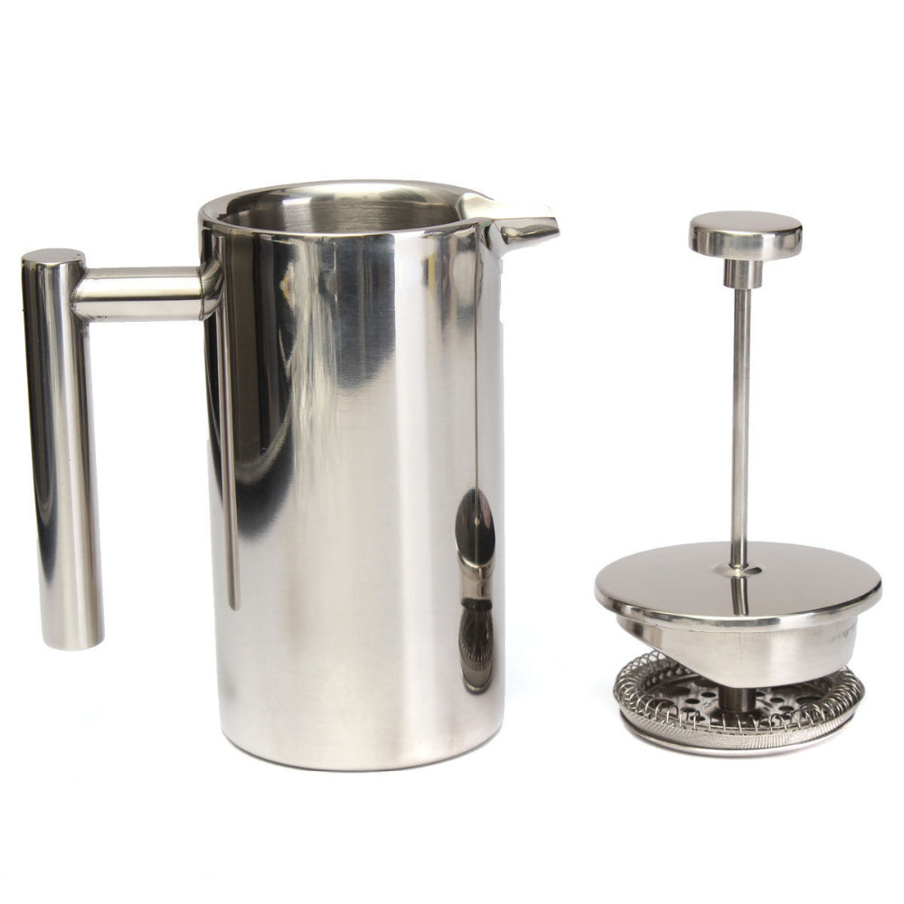 0 35l 8l 1 0l Hotel Use Double Wall French Press Coffee Maker Stainless