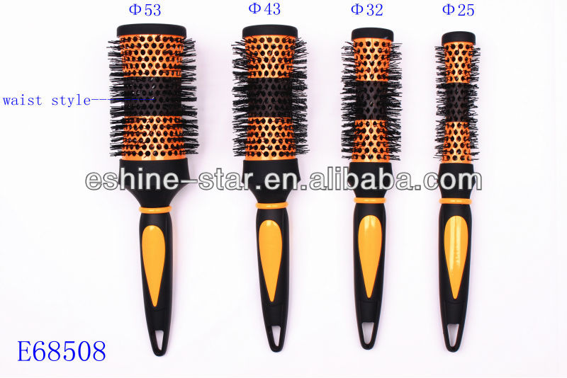 rubber handle  professional ceramic and ionic plastic hair brush