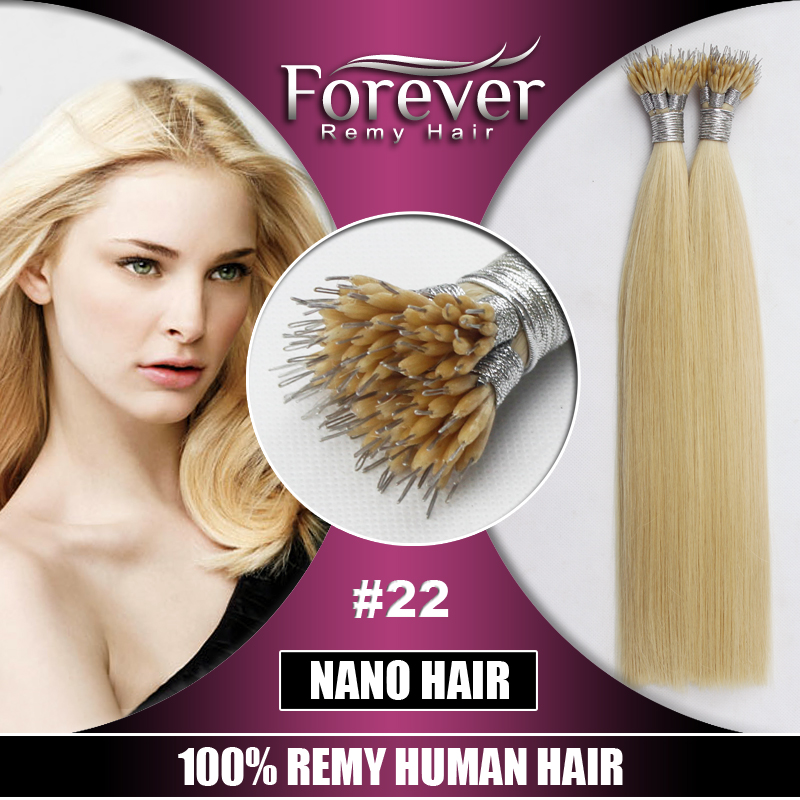 Forever Wholesale Remy human Hight Grade Nano Tip Hair Extensions 1G/s