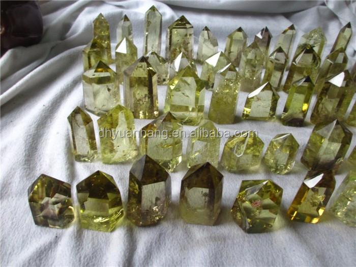 Delicate 50mm Minisize Natural Citrine Quartz Piont Yellow Rock ...
