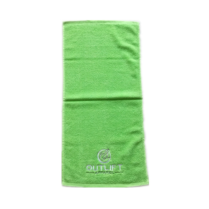 Logo personnalisé promotionnel 100% coton broderie sport fitness serviette de bain