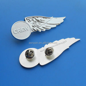 Chrome crew half pilot wing badge