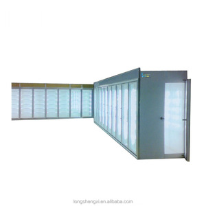 Air Curtain Upright Glass Door Fruit Cabinet Display