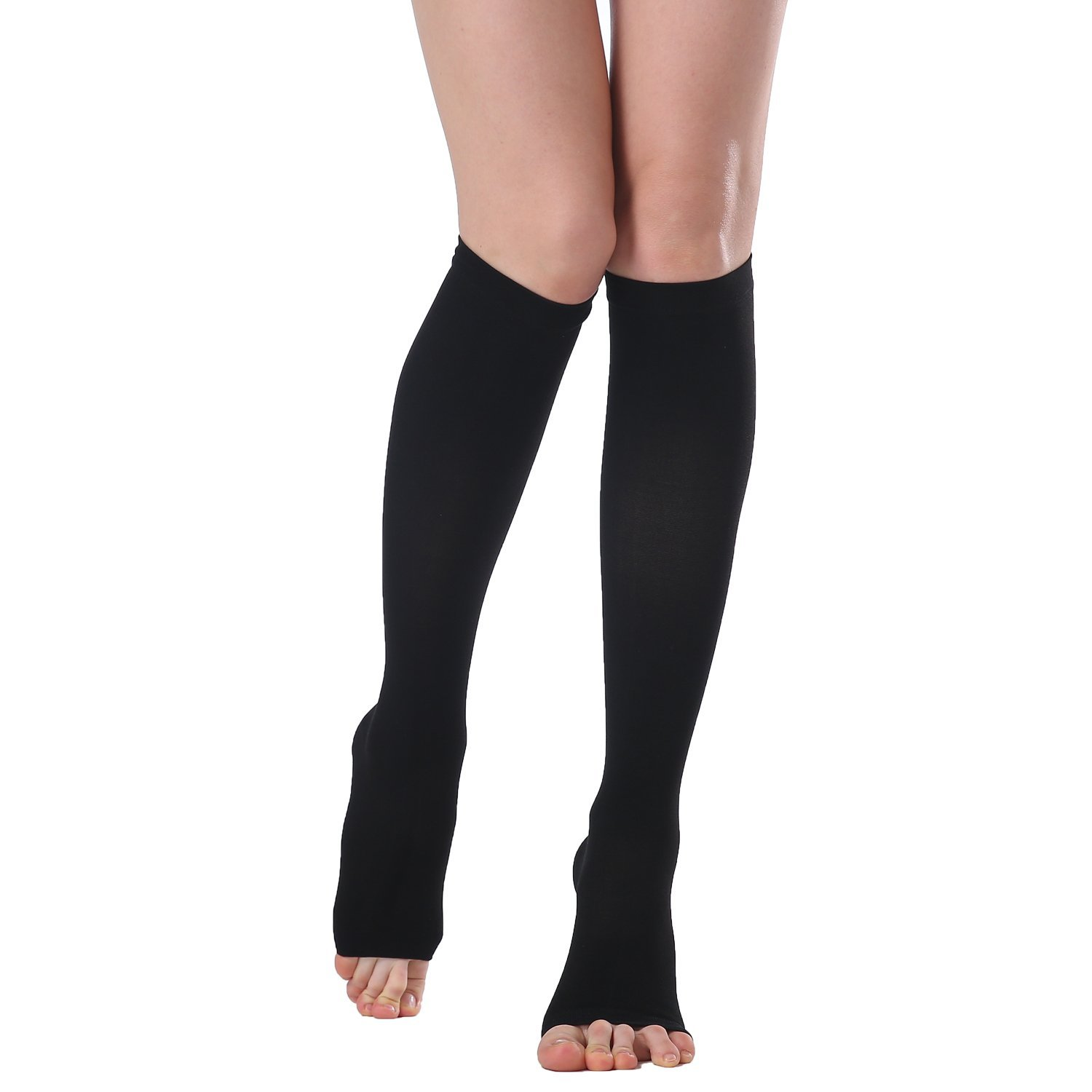 821123f78b ICE Medical Knee High Open Toe Compression Stockings Firm Support 20-30mmHg,