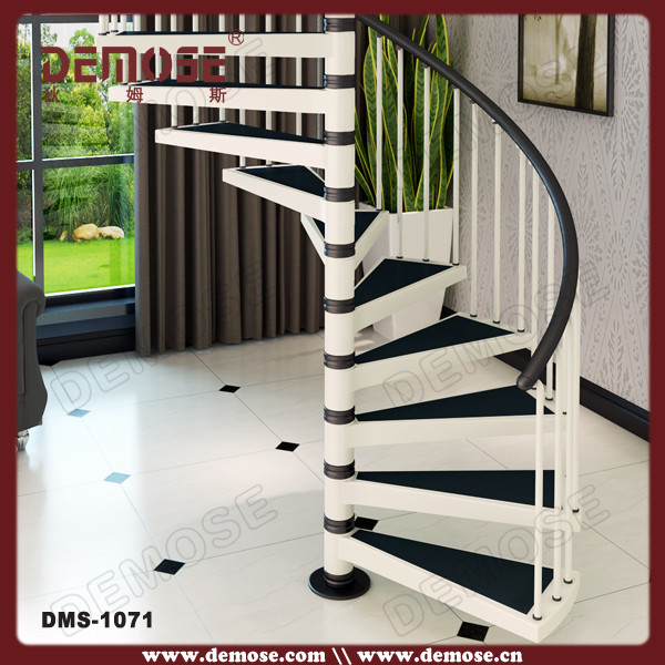 Spiral Kit Stairs White With Iron Round Stair Railing Non Slip Mat   Buy  Spiral Kit Stairs White,Iron Round Stair Railing Stair,Non Slip Mat Stair  Product ...
