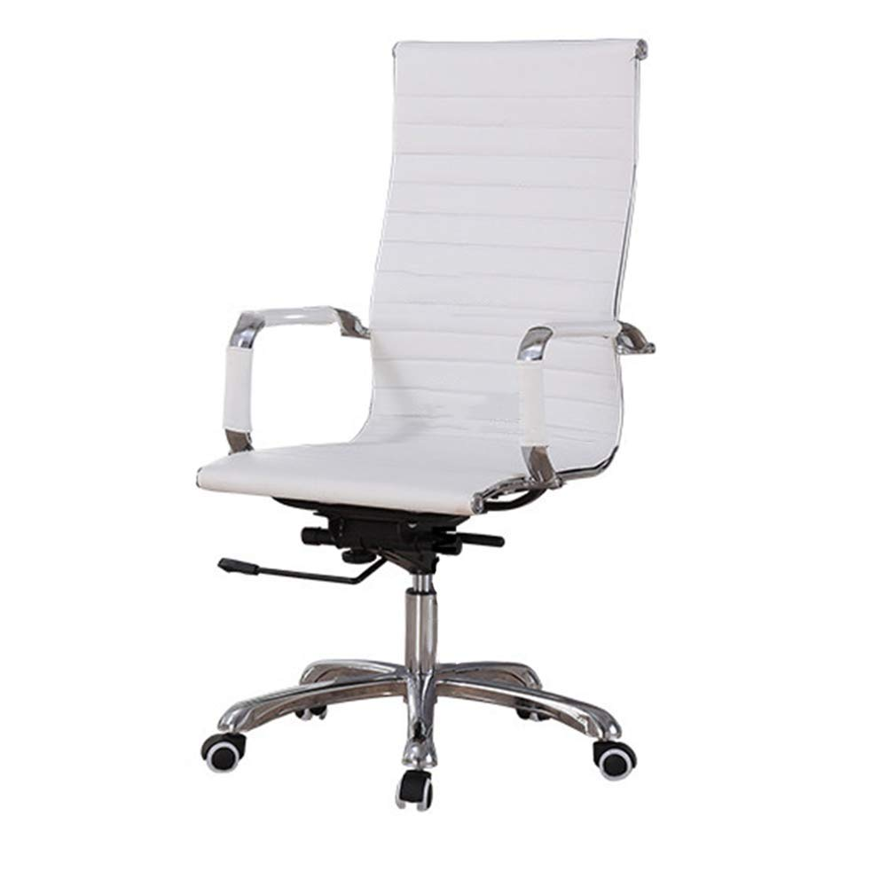 QFFL jiaozhengyi Swivel Chair, Office Furniture Computer Chair Household Swivel Lift Swivel Chair Boss Chair (Color : White)