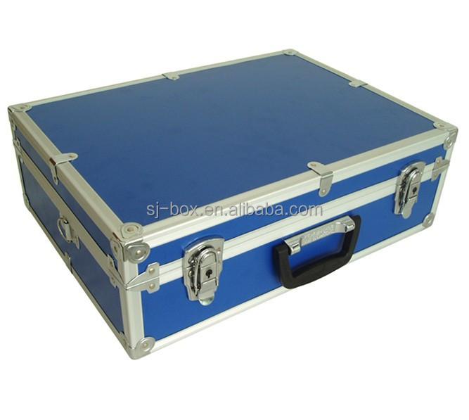 Aluminio azul malet n caja de herramientas vac a cajas de - Maletin de aluminio para herramientas ...