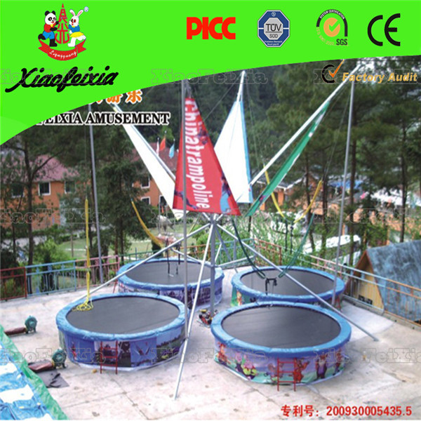 Factory Price Kids Outdoor Bungee Jumping Kids Trampoline for four people