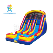 2018 Party Use Colorful Dual Lane Cheap Inflatable Water Slides