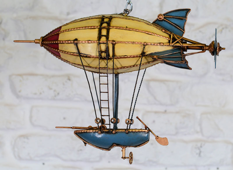 Metal handmade blimp airship model for Air decor