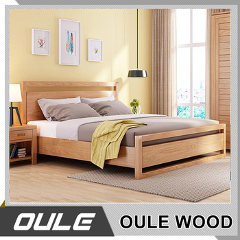 Home King Size Storage Bed Double Wooden Bed Modern Double Bed In