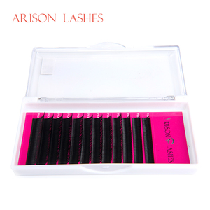 Wholesale Price Private Custom Label Mix Size AAA Grade Silk Eyelash Extensions
