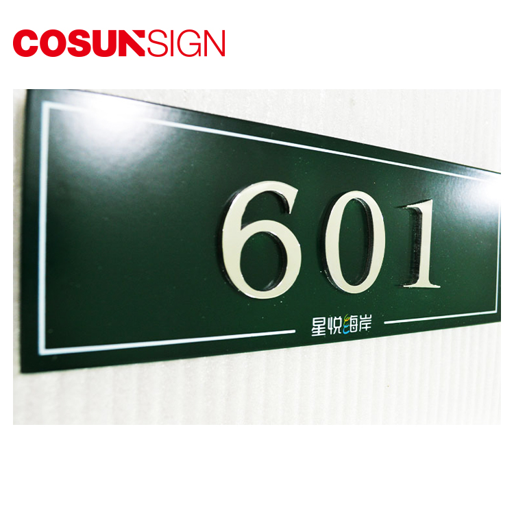 business building Interior door plates,custom apartment room signs hotel door numbers