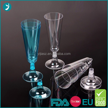 Professional supply disposable clear plastic glasses champagne in China