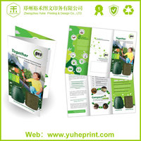 A4 custom size unique shape offset full color printing types of stationery folder