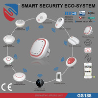 Smart home security system with RF z-wave wifi zigbee lora sigfox module optional GS188