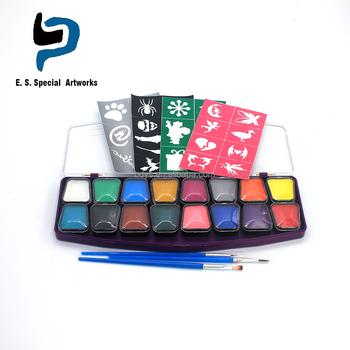 Basit Yüz Boyama örnekleri şablonlar 16 Renk Yüz Boya Paleti Buy