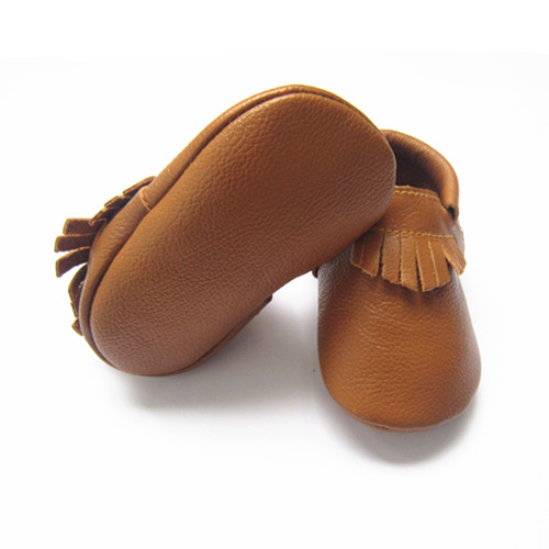 b130a7808 New Light Brown Baby Moccasins Shoes Cow Leather Baby Shoes - Buy ...