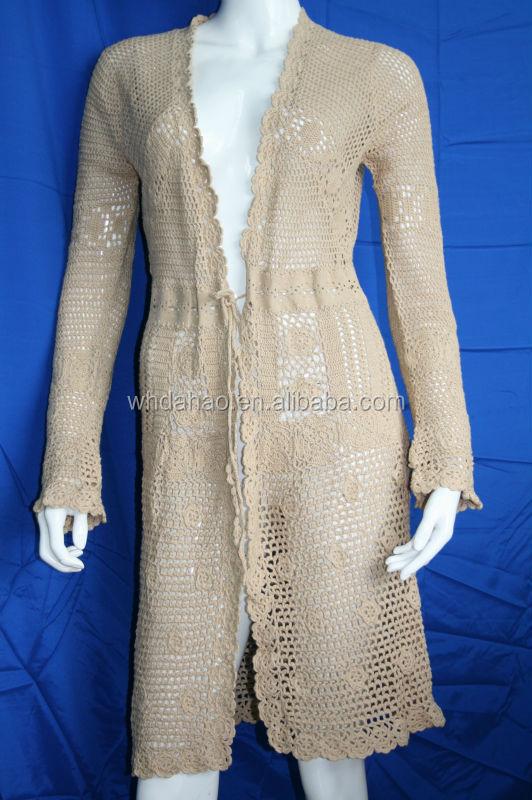 Lady Fashion Customize Cutout Design Of Handmade Sweaters ...
