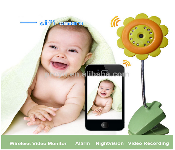 Alibaba China Flower Shape Lovely APP Phone Baby Monitor PY-B8000