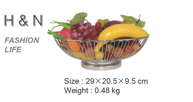 Empty Metal Gift Baskets : Round shape chrome plating fruit gift basket buy