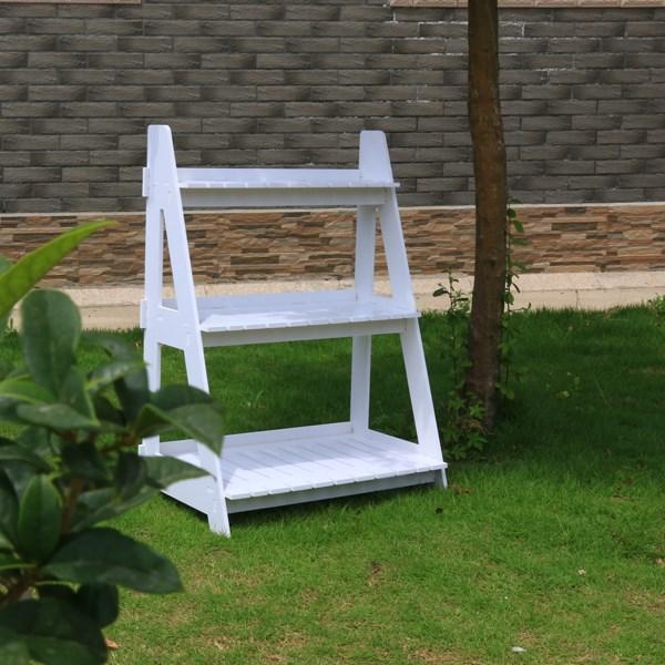 Neue Material, Wasserdicht WPC Garten Regal Holz Ecke Blume Regal