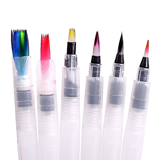 Alibaba Extremely Hot Sale Empty Marker Pens Cheap Plastic Water Brush Watercolor Ink Pens For Artist Painting