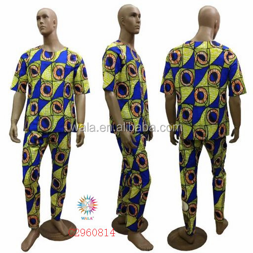 C2960814- (6) Beautiful design cotton wholesale print African fabric T shirt and pants