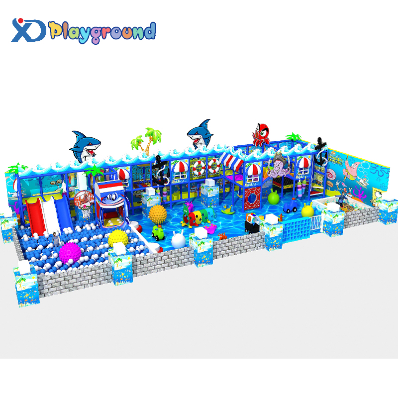 Shopping mall baby ocean themed indoor play area kids center