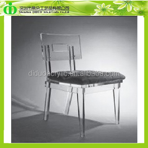 DDH 0009 Trade Assurance Clear Acrylic Table Chair With Cushion