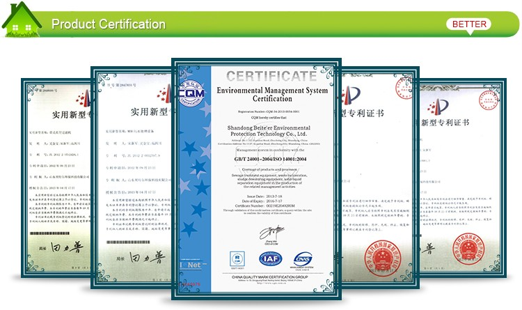 Professional mining vacuum belt filter of sludge treatment machine with ISO9001