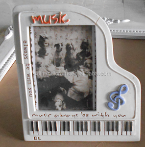 Elegant piano music picture frames