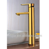 Solid Brass Single Handle Ti-PVD Finish Bathroom Sink Faucet(Tall)