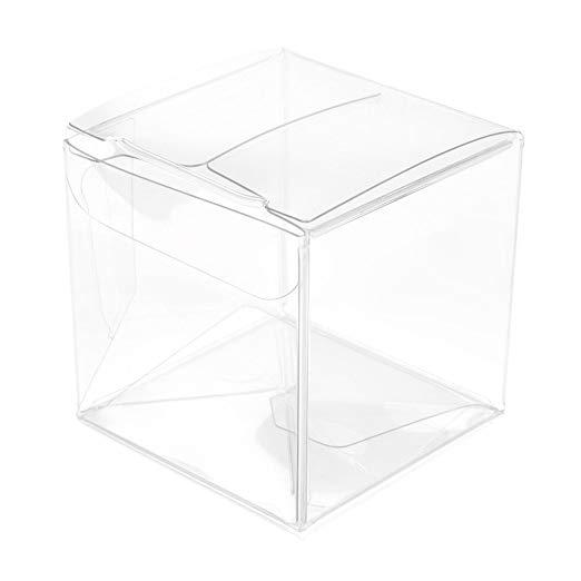 ClearBags Temizle Hediye Kutuları   Temizle PET Plastik Kutular Düğün Parti için Kutuları Şeker Cupcakes Çerezler