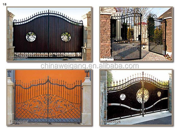 New Design Wrought Iron Gate For Home Using