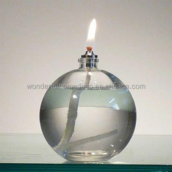 Ball Shaped Decorative Table Glass Oil Lamp - Buy Mini Glass Oil ...