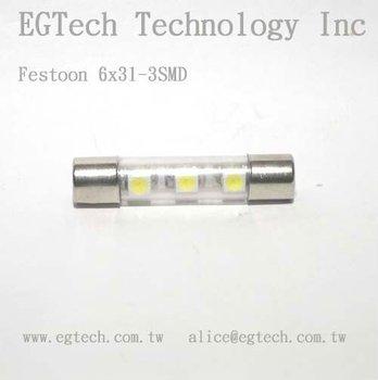 6x31mm 3smd Fuse Lamp - Buy Fuse Lamp,License Plat Lighting ...