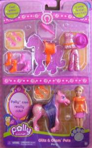 Polly Pocket Glitz & Glam Pony & Pets Superset