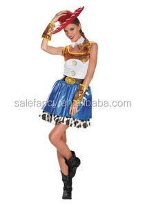 sexy cowgirl costume fancy dresses for girls QAWC-2917