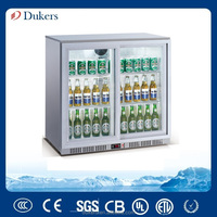 Silver color Back Bar Cooler,Underbar Cooler,CE,CB,MEPS,GAS approved_LG-208S