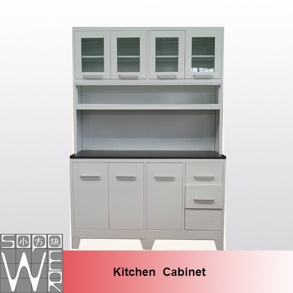 SOPOWER Metal White Color Best Custom Kitchen Cabinets
