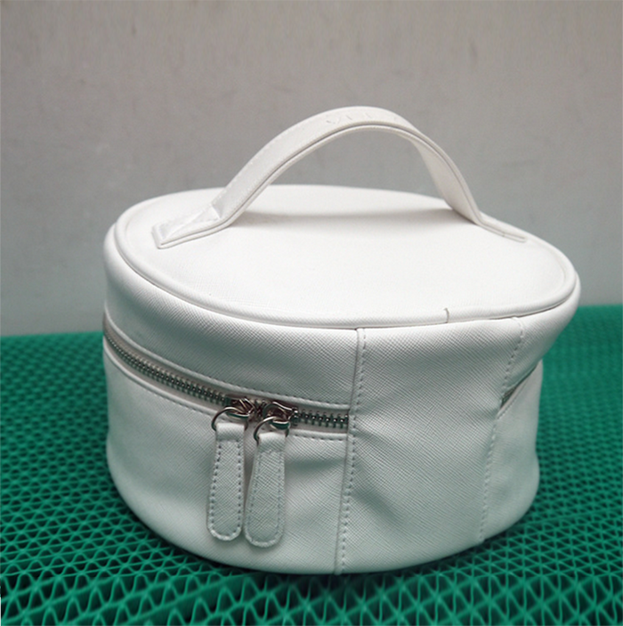 Wholesale plain White Pu Cosmetic Bag From China