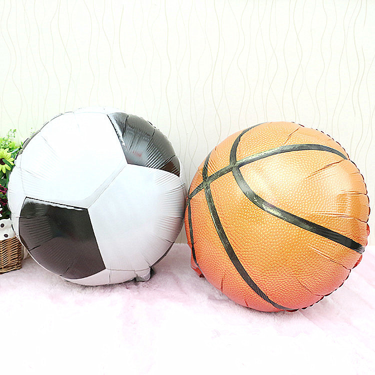 71268cd78 Get Quotations · Balloons Basketball Football Aluminum Balloon Birthday  Party Baby Toys Boys Girls