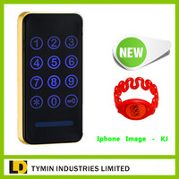 Small electronic keypad cabinet lock with 100 pcs code be used in kitchen, drawer, locker