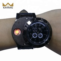 Flameless Rechargeable Cigarette USB Lighter Watch