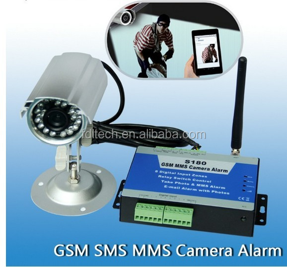 MMS home security alarm with CCTV camera,Remote Surveillance,send picture by SMS /Email S180