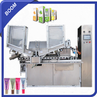 High accuracy China export striped toothpaste plastic tube filling sealing machine