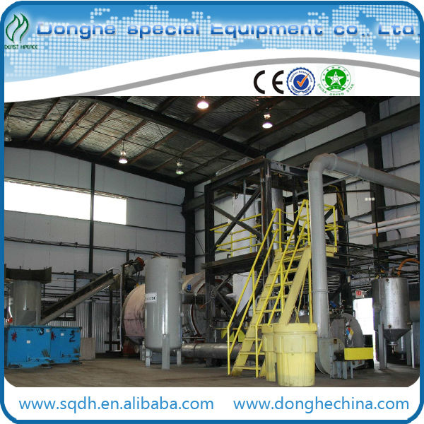 convert waste tire to fuel oil with capacity of 8-10T/D waste tyre pyrolysis set