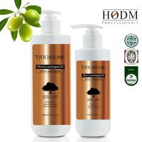 2015 new pure argan oil keratin repairing conditioner and shampoo, keratin hair extension shampoo and conditioner