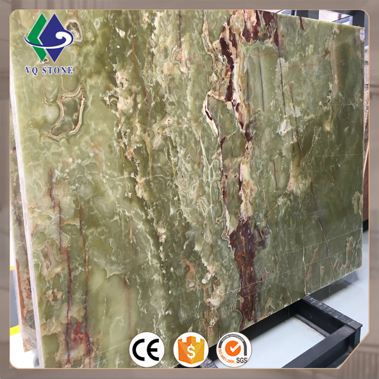 Factory cheap tile slab countertop green onyx marble price in pakistan